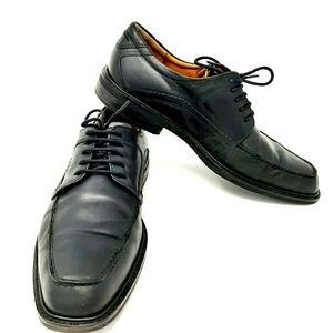 ECCO Men's Black Leather Lace Up Dress Shoes